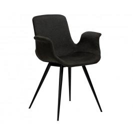 DAN-FORM Tmavě šedá čalouněná jídelní židle DanForm Thicc