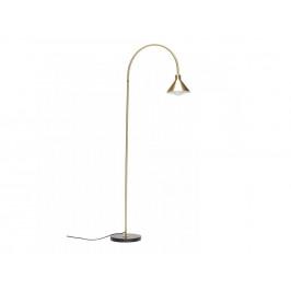 Zlatá kovová stojací lampa Hübsch Flur 168 cm