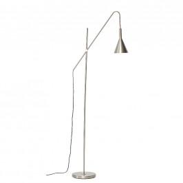 Stříbrná kovová stojací lampa Hübsch Aden 167 cm