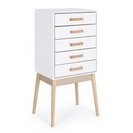 Bílá dřevěná komoda Bizzotto Ordinary 43x30 cm