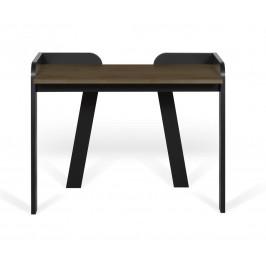 Porto Deco Černý ořechový pracovní stůl Broket 105x58 cm