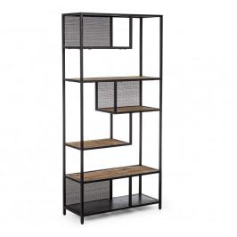 Černá kovová knihovna Bizzotto Roderic 84x35 cm