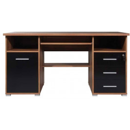 GERMANIA Černý ořechový kancelářský stůl Person 145 x 70 cm