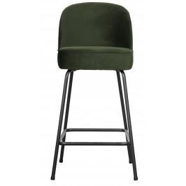 Hoorns Tmavě zelená sametová barová židle Tergi 89 cm