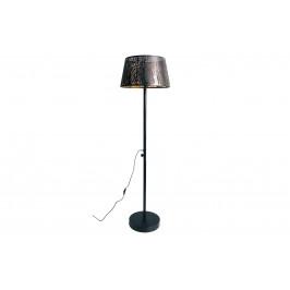 Hoorns Černo zlatá kovová stojací lampa Pumba