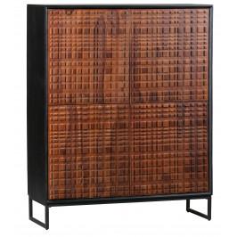 Hoorns Hnědá masivní sheeshamová skříň Alecia 114 x 40 cm