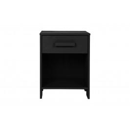 Hoorns Černý dřevěný noční stolek Koben 39 x 36 cm