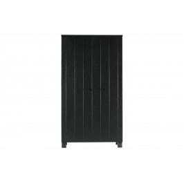Hoorns Černá dřevěná skříň Koben 111 x 55 cm