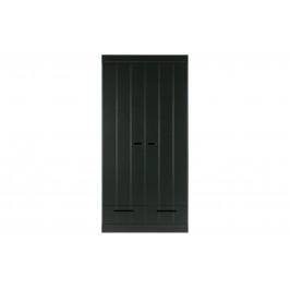 Hoorns Černá dřevěná skříň Ernie 94 x 53 cm
