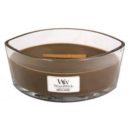 Vonná svíčka WoodWick loď, Amber & Incense