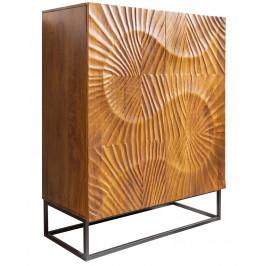 Moebel Living Přírodní masivní  dřevěná komoda Remus 100x45 cm