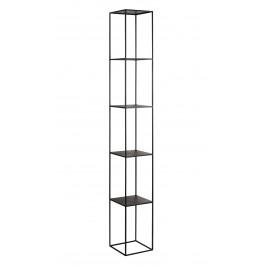Nordic Design Černý kovový regál Moreno 230 cm