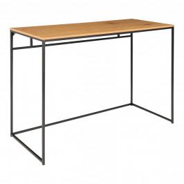 Nordic Living Dubový kovový pracovní stůl Winter 100 x 45 cm