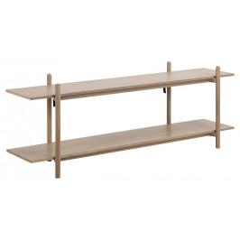 SCANDI Přírodní dřevěný regál Asher 54,5 cm