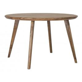 Hnědý dřevěný kulatý jídelní stůl Bizzotto Sylvester 120 cm