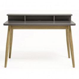 Pracovní stůl Woodman Farsta, šedá/dub 198005040014 Woodman