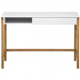 Pracovní stůl Woodman Northgate, bílá/dub 139002108014 Woodman