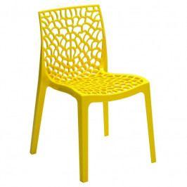 Jídelní židle Coral-C, žlutá SC03_GL Sit & be