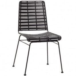 Židle Hübsch Venla, černá 110601 Hübsch
