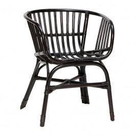 Zahradní židle Hübsch Gimi, ratan/černá 310307 Hübsch