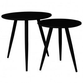Set odkládacích stolků WLL DAVEN, černá 2300076 White Label Living