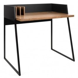 Kancelářský stůl Glaucia, ořechová dýha, černá | -30 % S9003.052927 Porto Deco
