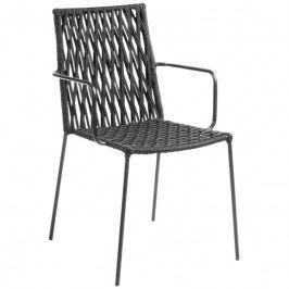 Zahradní židle LaForma Bettie, černá CC0198J15 LaForma