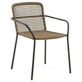 Židle LaForma Boomer, přírodní/černá CC0217J12 LaForma