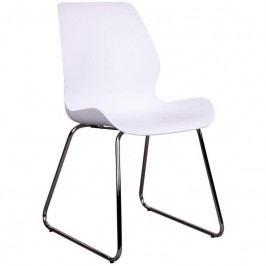 Konferenční židle Nordic Living Troms, bílá/chrom 1001050S Nordic Living