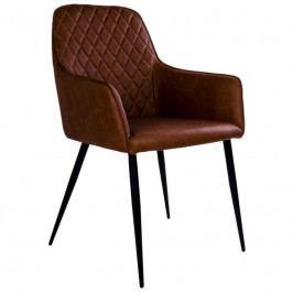 Jídelní židle Nordic Living Malvik, hnědá 1001150 Nordic Living