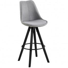 Barová židle Damian, látka, světle šedá SCHDN0000075386 SCANDI