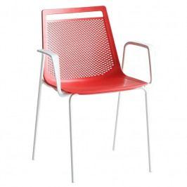 Zahradní židle Asam s područkami, červená ASC1106220 Garden Project