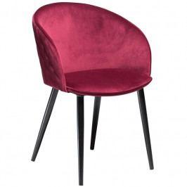 Židle DanForm Dual, samet, červená DF100800630 DAN FORM