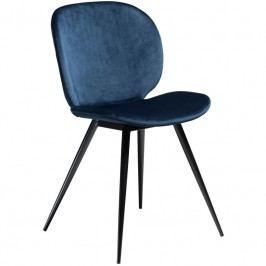 Židle DanForm Cloud, samet, modrá DF100800240 DAN FORM