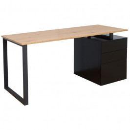 Pracovní stůl Dirk 160 cm, černá/dub in:38426 CULTY HOME