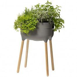 Vysoká pěstební nádoba Urbalive 77cm, šedá S1606955015