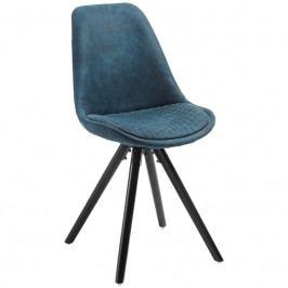 Jídelní židle LaForma Lars, modrá/černá CC0224CWQ26 LaForma