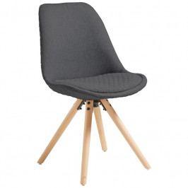 Jídelní židle LaForma Lars, tmavě šedá/přírodní C632JQ15 LaForma