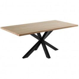 Jídelní stůl LaForma Arya 200x100 cm, černá/dub C408M46 LaForma