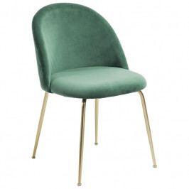 Židle LaForma Mystere, tmavě zelená/zlatá CC0855J19 LaForma