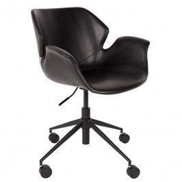 Kancelářská židle ZUIVER NIKKI, ekokůže, černá 1300004 Zuiver