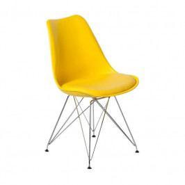 Židle DSR s čalouněným sedákem, žlutá 113227 CULTY