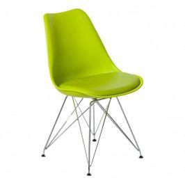 Židle DSR s čalouněným sedákem, světle zelená 113220 CULTY