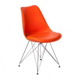 Židle DSR s čalouněným sedákem, oranžová 113269 CULTY