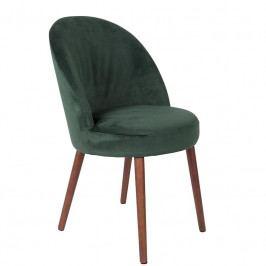 Židle DUTCHBONE BARBARA, samet, zelená 1100336 Dutchbone