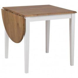 Rozkládací jídelní stůl Brisa 75-115 cm, bílá SCHDN0000076753 SCANDI