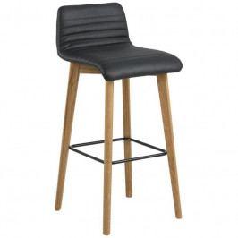 Barová židle Areta, kůže, černá SCHDN0000076412 SCANDI