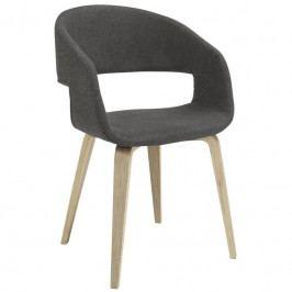 Židle Damaro, látka, tmavě šedá/topol SCHDN22144-3 SCANDI