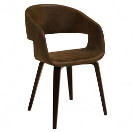 Židle Damaro, látka, hnědá/ořech SCHDN22144-35 SCANDI