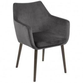 Židle Marte s područkami, samet, tmavě šedá SCHDN0000074025 SCANDI